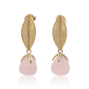 Callysta's Findings - Earrings Rosequartz 2