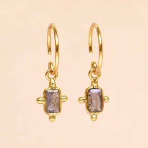 Muja Juma - Earrings Labradorite 1313GB2