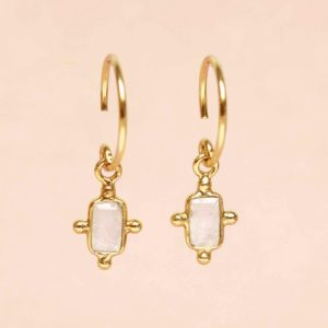 Muja Juma - Earrings Moonstone 1313GB1