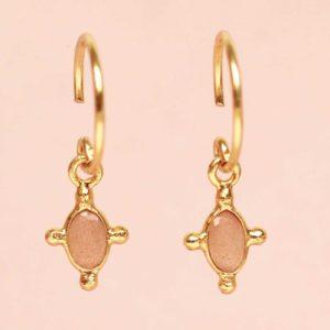 Muja Juma - Earrings Peach Moonstone 1474GB4