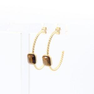 ZAG Bijoux - Earrings Tigereye 2