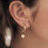 Zag Bijoux - Earrings Peach Moonstone model