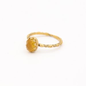 Gem Kingdom - Lizzy Ring GP Yellow Agate 01