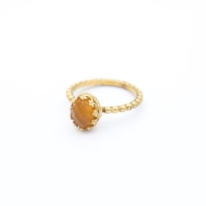 Gem Kingdom - Lizzy Ring GP Yellow Agate 02