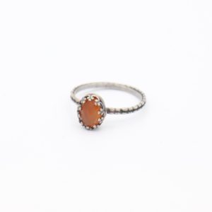 Gem Kingdom - Lizzy Ring Orange Agate Z