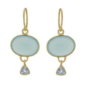 Muja Juma - Earrings Blue Chalcedony 1437gb9