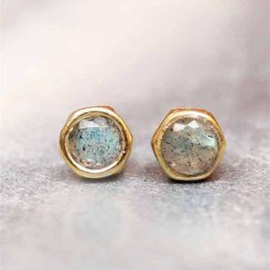 Muja Juma - Earrings Labradorite 1223gb2