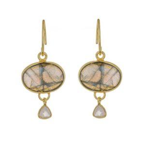 Muja Juma - Earrings Labradorite 1437gb2