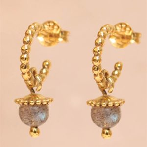 Muja Juma - Earrings Labradorite 1526gb2