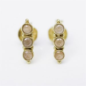 Muja Juma - Earrings Peach Moonstone 1286gb4