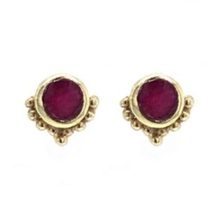 Muja Juma - Earrings Ruby 1008gb25