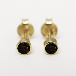 Muja Juma - Earrings Smokey Topaz 1223gb3
