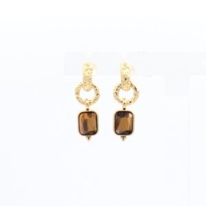 ZAG Bijoux - Earrings Tigereye