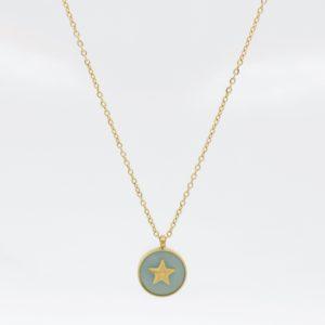 Zag Bijoux - Necklace GP Amazonite Star cu