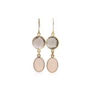 Callysta Findings - Earrings Soft Pink Brown