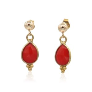 Callysta Findings - Earrings Tomato Red