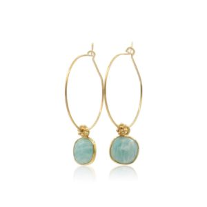 Callysta Findings - Hoops Amazonite