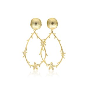 Callysta's Findings - Earrings Drop Leaves