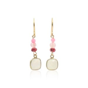 Callysta's Findings - Earrings Moonstone Pink