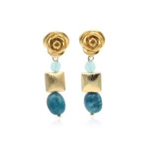 Callysta's Findings - Earrings Roses Apatite