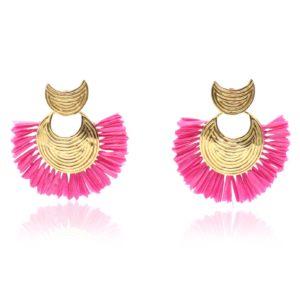 Gas Bijoux - Earrings Luna Wave Mini Pink