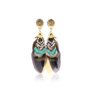 Gas Bijoux - Earrings Sao Feathers Taupe