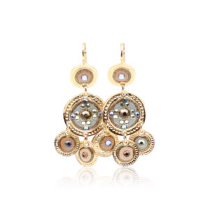 Gas Bijoux - Earrings Sequin Soft Blue Cream
