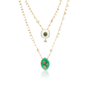 Gas Bijoux - Necklace Scapulaire Green
