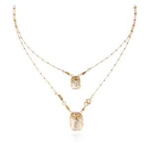 Gas Bijoux - Necklace Scarab White