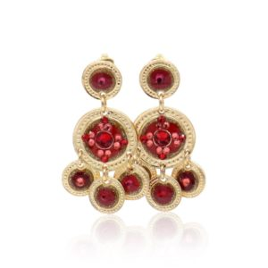 Gas Bijoux - Earrings Sequin Red