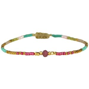 LeJu London - Bracelet B1L01 Pink Tourmaline