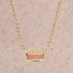 Muja Juma - Necklace Peach Moonstone 3161gb4