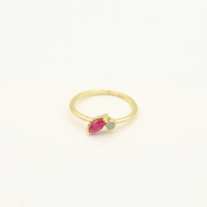 Muja Juma - Ring Amazonite Ruby 4093gb24