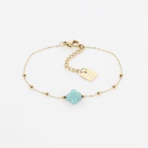 Zag Bijoux - Bracelet Clover Amazonite