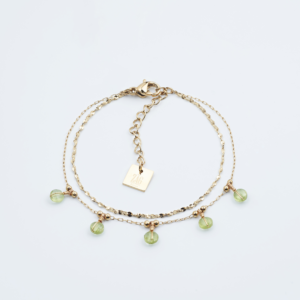 Zag Bijoux - Bracelet Grass Green Stones 2
