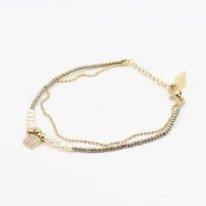 Zag Bijoux - Bracelet Pearls Square