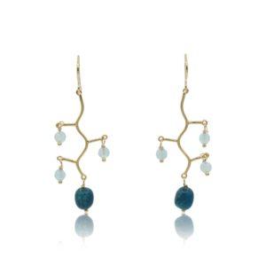 Callysta's Findings - Earrings Apatite Branch