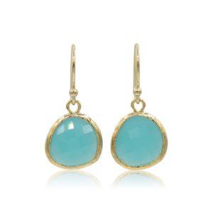 Callysta's Findings - Earrings Aqua Triangles