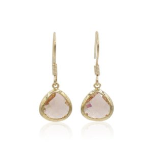 Callysta's Findings - Earrings Champagne Triangles
