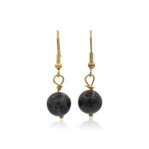 Callysta's Findings - Earrings Dark Grey Stones