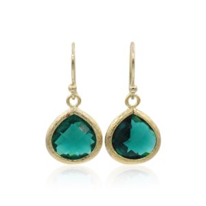 Callysta's Findings - Earrings Emerald Triangles
