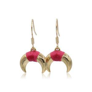 Callysta's Findings - Earrings Fuchsia Horns