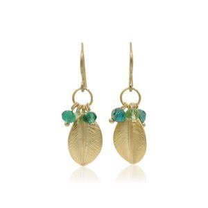 Callysta's Findings - Earrings Green Round Leaves