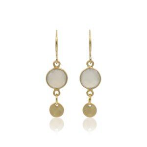 Callysta's Findings - Earrings Grey Agate Coin