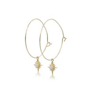 Callysta's Findings - Earrings Hoops Medium Opal Stars