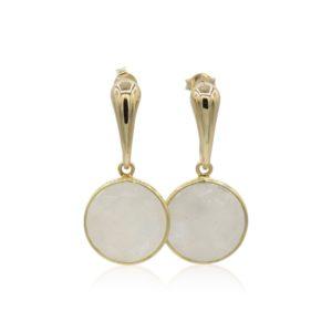 Callysta's Findings - Earrings Moonstone Round