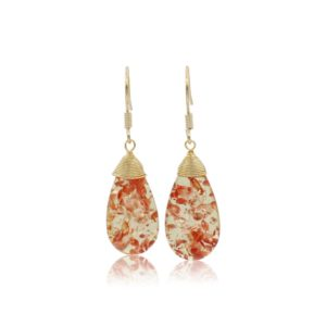 Callysta's Findings - Earrings Orange Drops