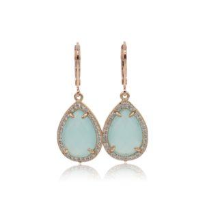Callysta's Findings - Earrings Pave Mint