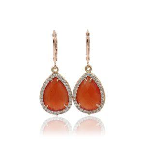 Callysta's Findings - Earrings Pave Orange