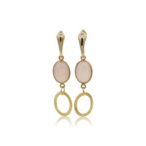 Callysta's Findings - Earrings Peach Circles